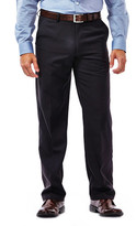 Haggar Big & Tall Performance Microfiber Slacks - Straight Fit, Flat Front, Flex Waistband (non-expandable)