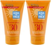 Kiss My Face Water Resistant Oat Protein Sun Screen SPF 30-4 oz, 2 pack