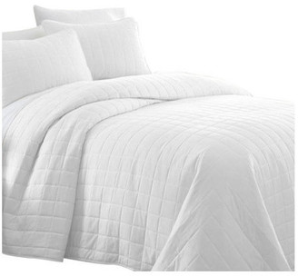 IENJOY HOME Becky Cameron Premium Ultra Soft Square Pattern Quilted Coverlet Set,
