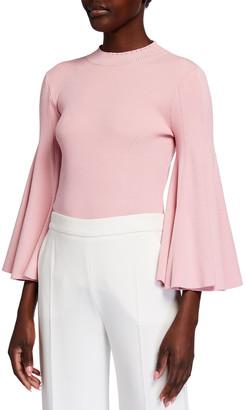 Oscar de la Renta Knit 3/4-Sleeve Pullover