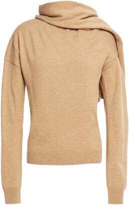 Maje Madji Draped Wool-blend Sweater