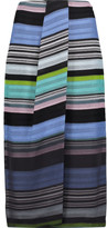 Missoni Draped wrap-effect crochet-knit midi skirt