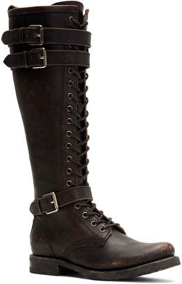 Frye Veronica Rugged Leather Tall Moto Boots