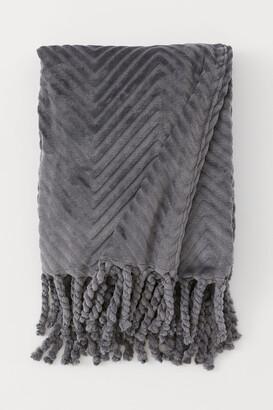 H&M Fleece Throw with Fringe