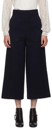 See by Chloe Navy Wide-Leg Trousers