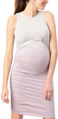 Stowaway Collection Twist Maternity & Nursing Dress