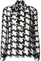 DSQUARED2 geometric print pussybow blouse - women - Silk - 40