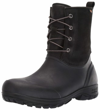 Bogs Mens Sauvie Snow Leather Waterproof Insulated Winter Snow Boot