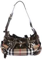 Burberry Chain-Link House Check Shoulder Bag