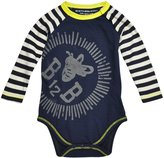 Burt's Bees Baby Colorblock Striped Bodysuit (Baby) - Midnight-3-6 Months