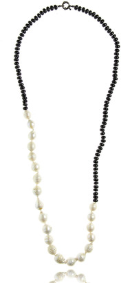MCL by Matthew Campbell Laurenza Half Onyx & Baroque Pearl Necklace