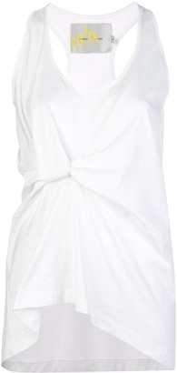 Marques Almeida Ruched-Detail Tank Top