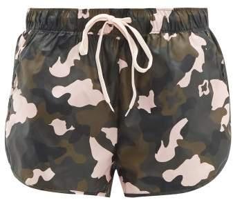 1a58b4f3215 Forest Camo Print Running Shorts - Womens - Multi