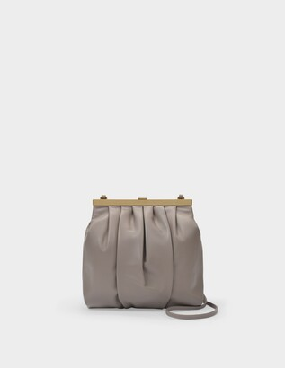 Mansur Gavriel Frame Crossbody Bag in Grey Leather