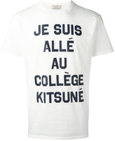 MAISON KITSUNÉ slogan T-shirt - men - Cotton - M