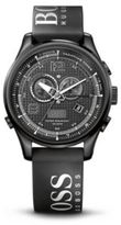 Hugo Boss 1512832 Chronograph Black Silicon Logo Strap Watch One Size Assorted-Pre-Pack