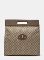 Gucci Men's Neo Vintage Gg Supreme Print Tote Bag In Brown