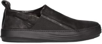 The Last Conspiracy Waxed Leather Slip-on Sneakers