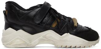 Maison Margiela Black Retro-Fit Mid Sneakers