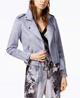 Bar III Faux Suede Belted Moto Jacket, Created for Macy's
