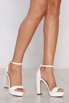 Nasty Gal Womens On the Rise Platform Heel - white - 7