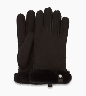 UGG Shorty Glove With Leather Trim