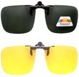 Eyekepper Day-Night 2 Pairs Valupac Clip on Flip up Sunglasses