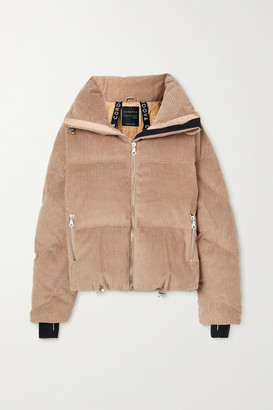 Cordova Mont Blanc Hooded Quilted Corduroy Down Jacket - Camel