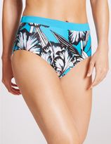 Marks and Spencer Floral Print High Waisted Swim Bottoms