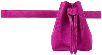 Nanushka Minee Convertible Velvet Belt Bag