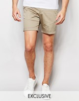 Noak Shorts With Turn Up In Super Skinny Fit