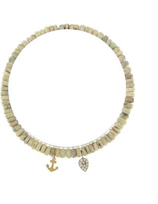 Meira T 14K Two-Tone Diamond & Silverite Anchor Bracelet