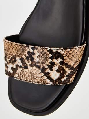 Very Hope Slim Wedge Square Toe Sandals - Animal