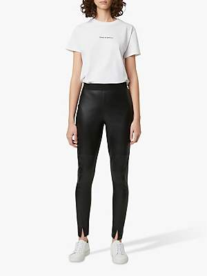 French Connection Celina Faux Leather Leggings, Black