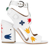 Laurence Dacade 'Naton' floral applique sandals - women - Leather - 35.5