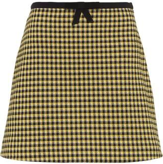 Miu Miu gingham-print A-line skirt