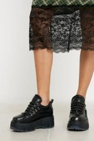 Bronx Moonwalk Black Platform Trainers - black UK 4 at Urban Outfitters