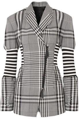 Burberry Check And Stripe Blazer