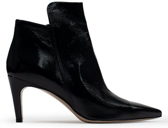 Calpierre Perivale Black Patent Leather High Front Ankle Boots