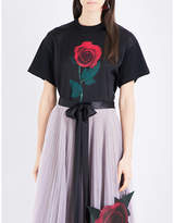 Christopher Kane Beauty and the Beast Rose cotton T-shirt