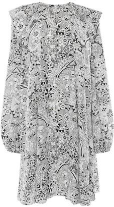 Alexander McQueen Silk Art Nouveau Print Dress