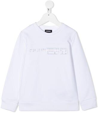 Diesel Metallic Logo Sweatshirt