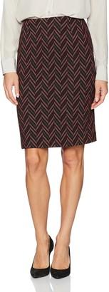 Kasper Women's Zig Zag Knit Jacquard Slim Skirt