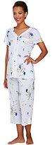 Carole Hochman Amaryllis Ultra Jersey 2 Piece Pajama Set