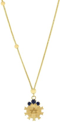 Foundrae 18kt yellow gold sapphire Air Element Dotted choker