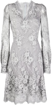 Ermanno Scervino Lace Long-Sleeve Dress