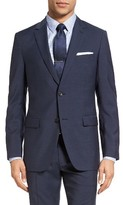 Theory Men's Wellar Trim Fit Check Wool Sport Coat