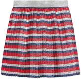 Gucci Children's lurex Sylvie stripe pleated skirt