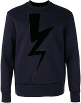 Neil Barrett lightning sweatshirt - men - Cotton/Polyurethane/Viscose - 46