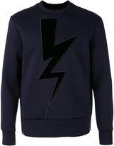 Neil Barrett lightning sweatshirt - men - Cotton/Polyurethane/Viscose - 52